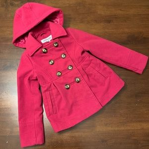 London Fog | Wool Double Breasted Pink Coat